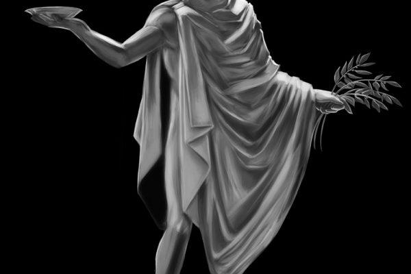 Statue painting for client Bonus Eventus Florist