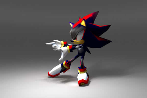 Low Poly Shadow model for Sonic Rivals (PSP)