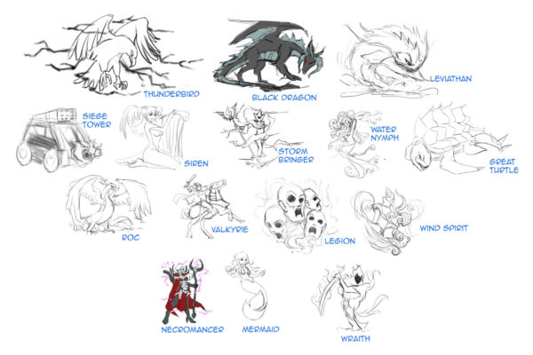 Character sketches for the Spellbroken Expansion