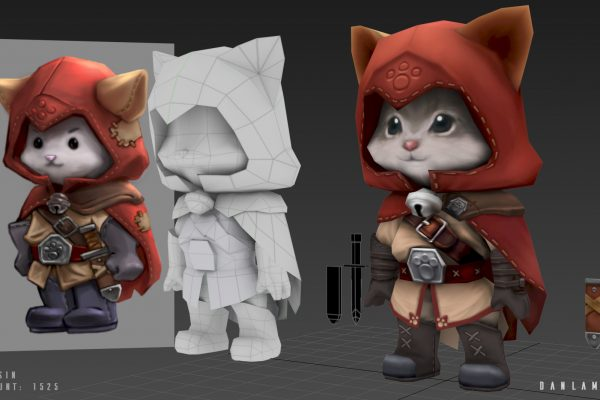 Low Poly 3d Model for Catsassin