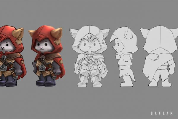 Concept for Catsassin and ortho views for 3d modeling