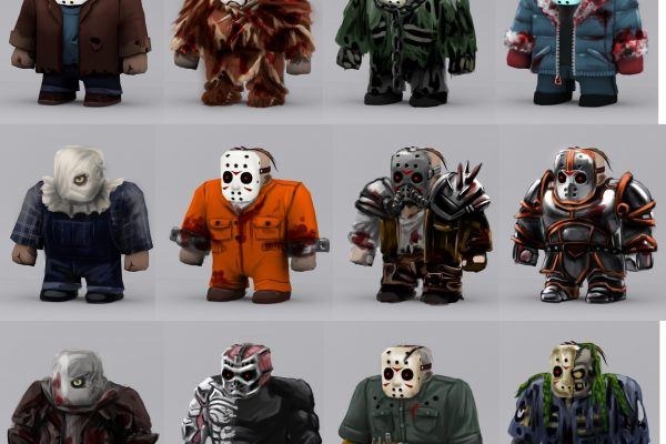 Different costume designs for DLC and unlockable Jasons