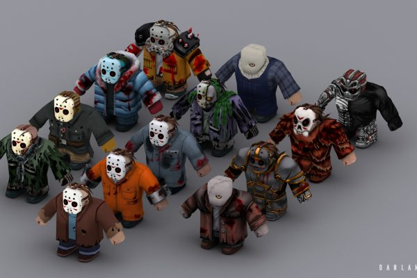 Vanilla Jason, plus 12 Jason costumes. 3D Studio Max