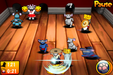 Gameplay of 3d modeled and animated mice