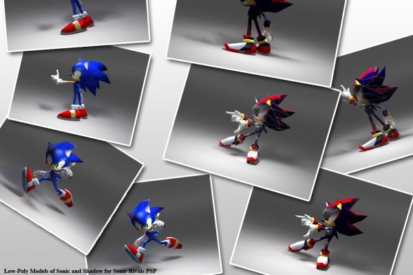 Models created for Sonic Rivals for Sega