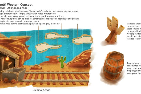 Concept bible for a western themed game aimed at children